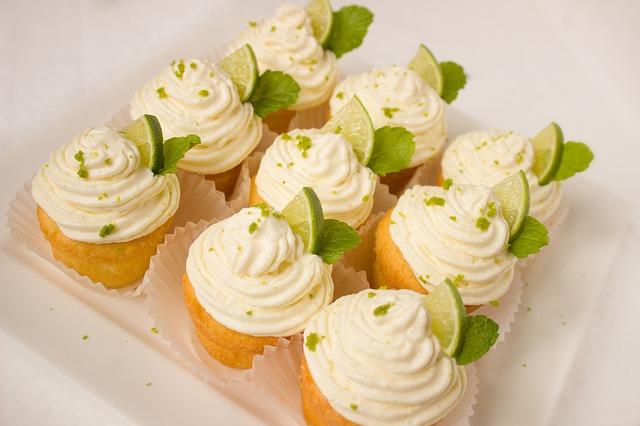 limetkové cupcakes
